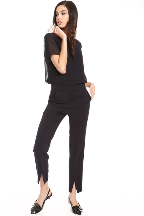 Crepe fabric cigarette trousers Intrend