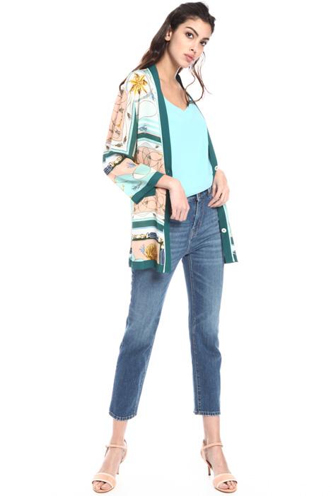 Short silk kimono Intrend
