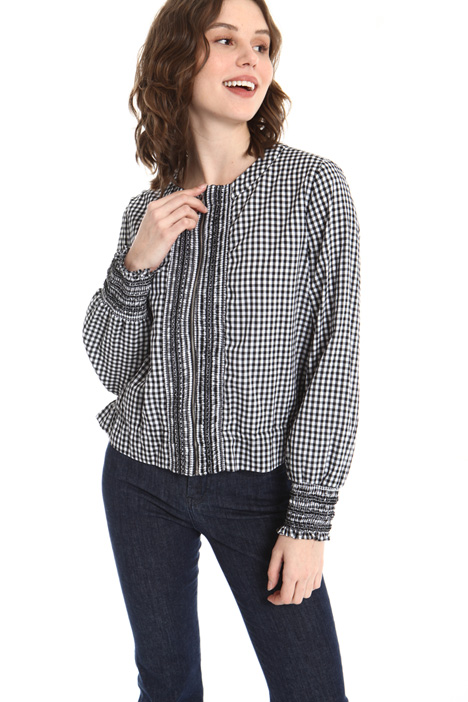 Yarn-dyed cotton blouse Intrend