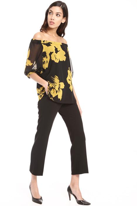 Off shoulder georgette blouse Intrend