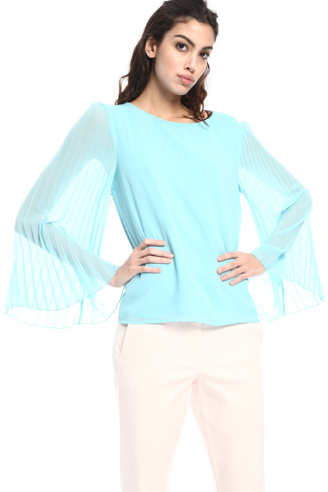Jersey and georgette blouse Intrend