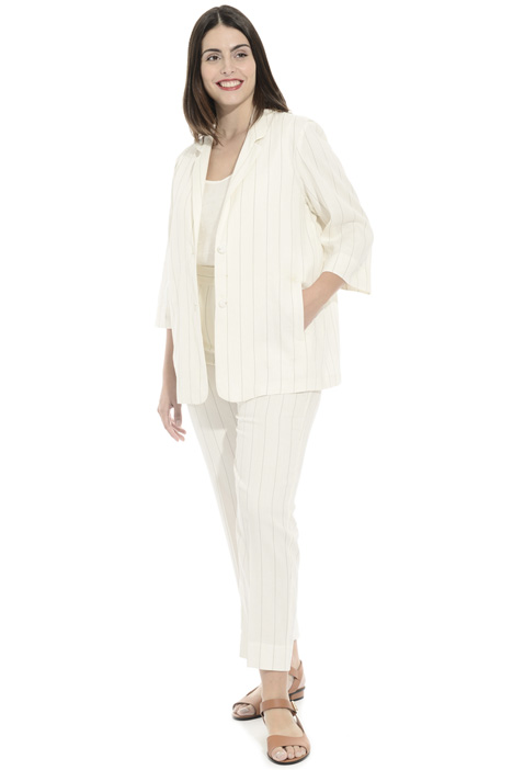 Striped ramié jacket Intrend
