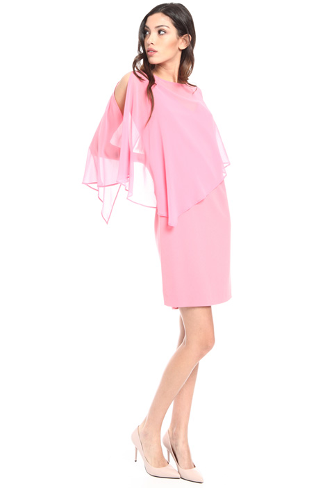 Georgette cape dress Intrend