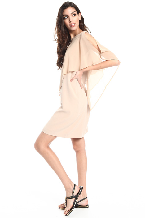 Georgette cape dress Intrend