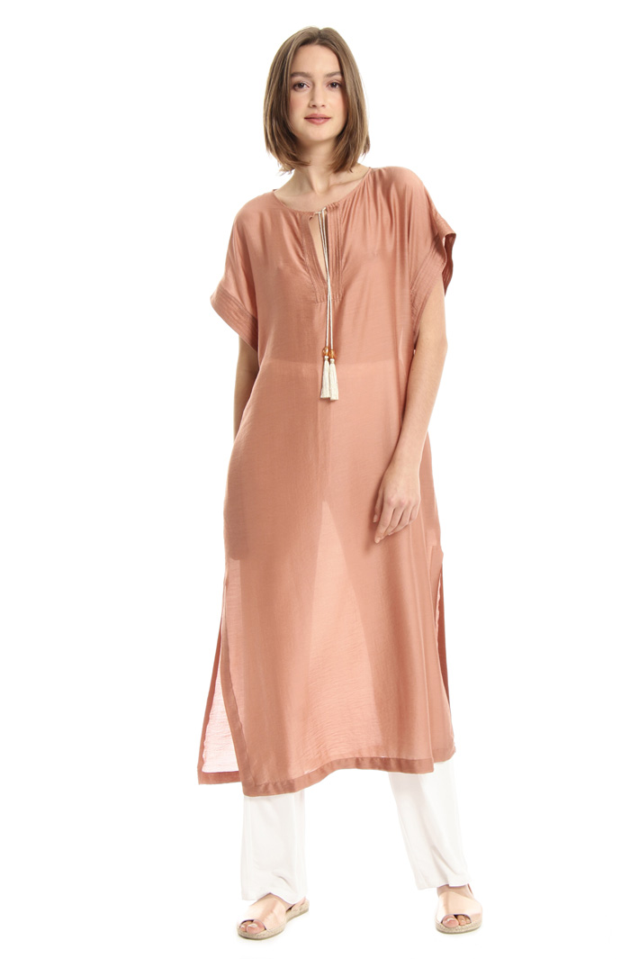 Silk tunic with tassels Intrend