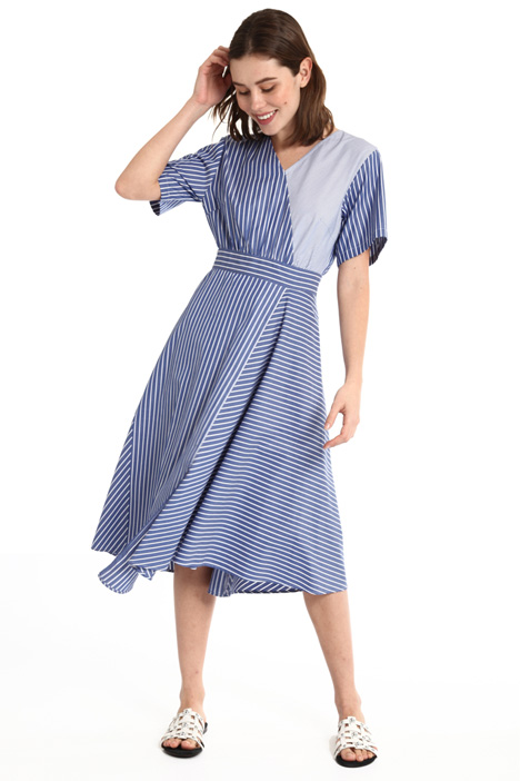 Striped wrap-up dress Intrend