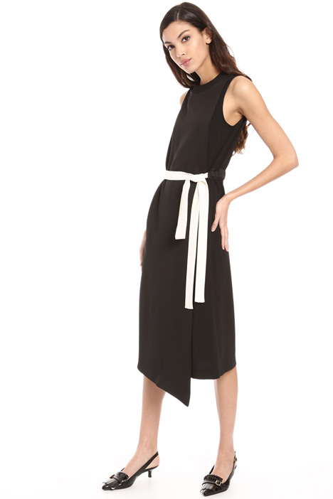 Wrap-up crepe dress Intrend
