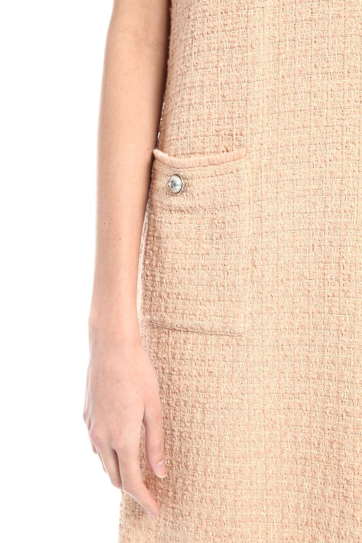 Front pocket bouclé dress Intrend