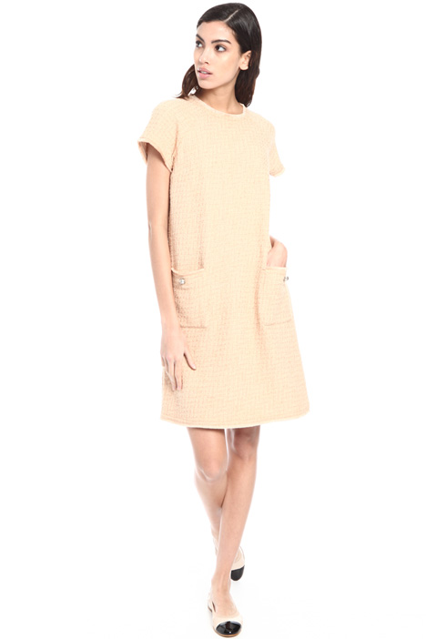 Front pocket bouclé dress Intrend