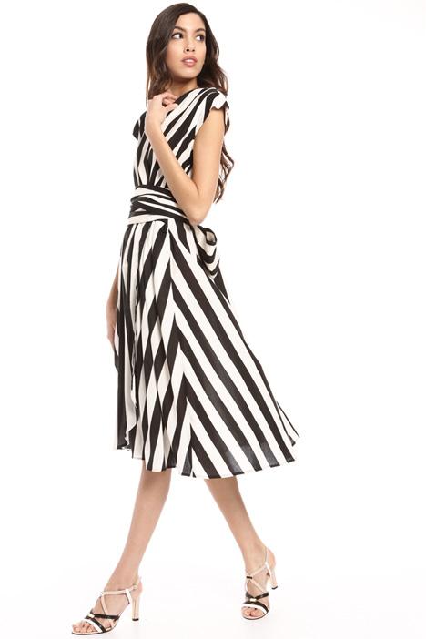 Striped wrap-up dress Intrend