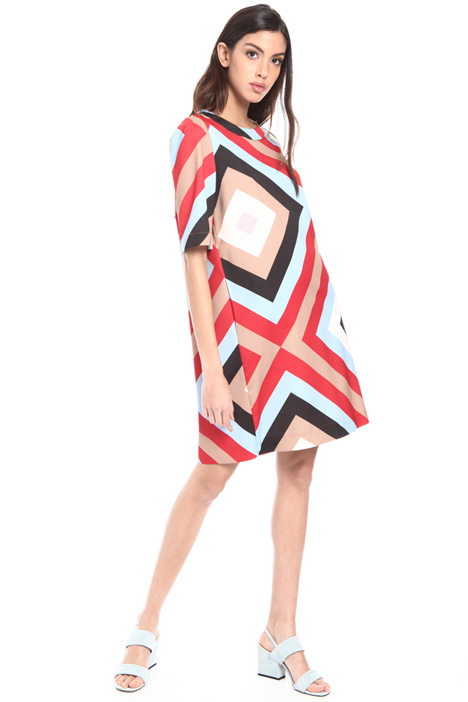 Geometrical pattern dress Intrend