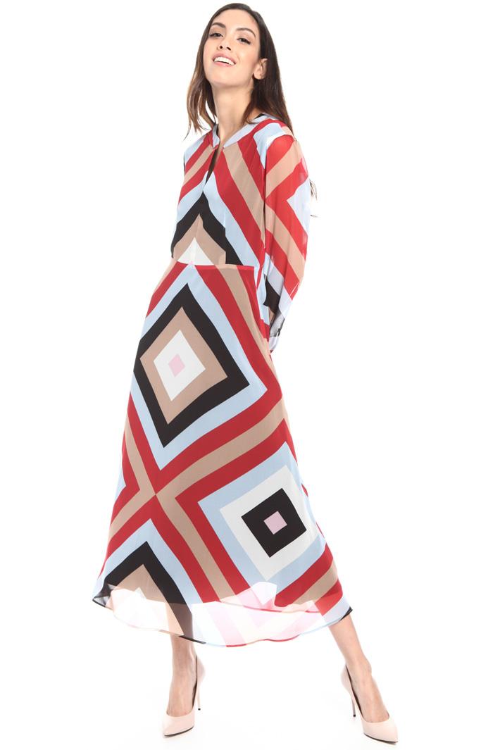 Geometrical pattern midi dress Intrend