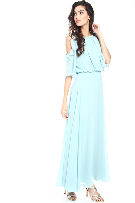 Cold shoulder georgette dress Intrend