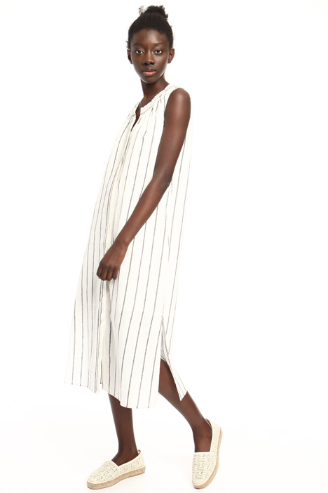 Slit dress in linen and cotton Intrend