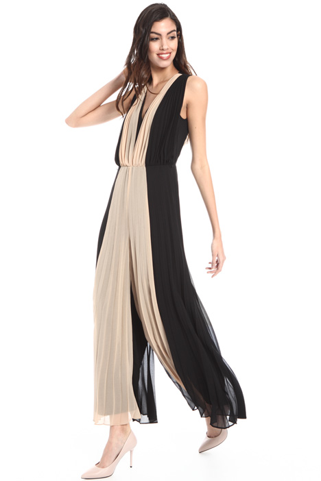 Pleated georgette jumpsuit Intrend