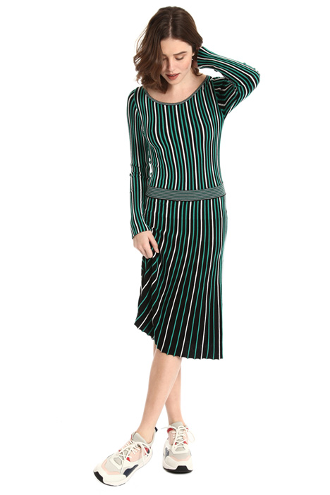 Striped knit dress Intrend