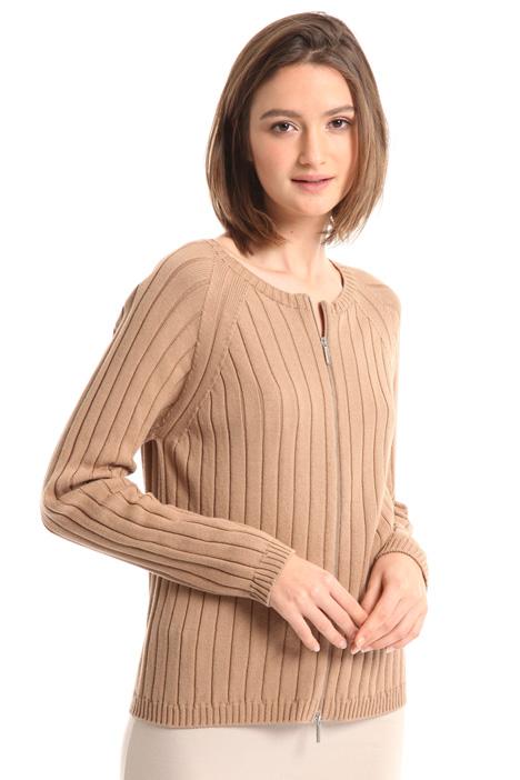 Cotton zip cardigan Intrend