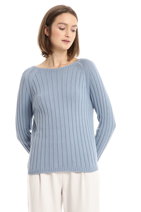 Ribbed cotton sweater Intrend