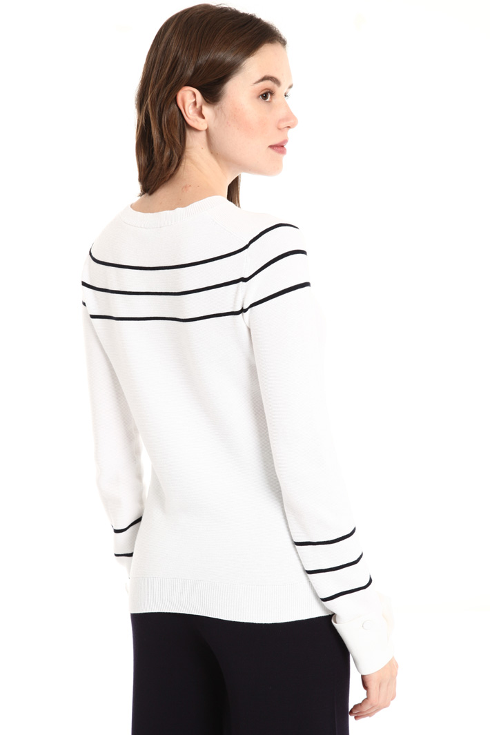 Brushed cotton sweater Intrend