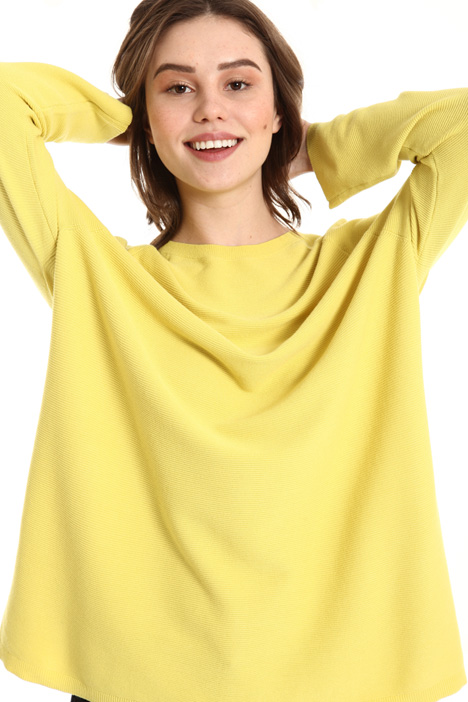 Contrasting side sweater Intrend