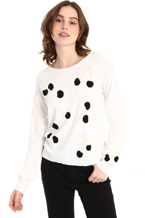 Lurex detail sweater Intrend