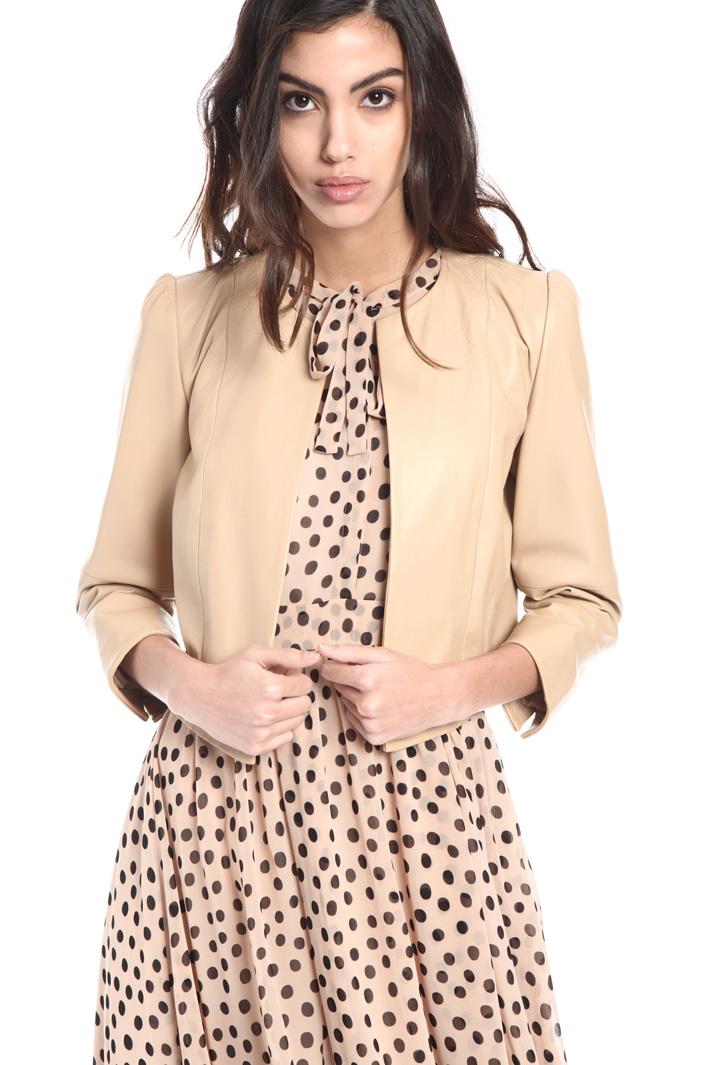 Crop leather jacket Intrend