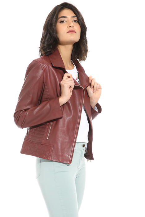 Quilted leather jacket Intrend