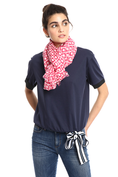Silk and cotton foulard Intrend