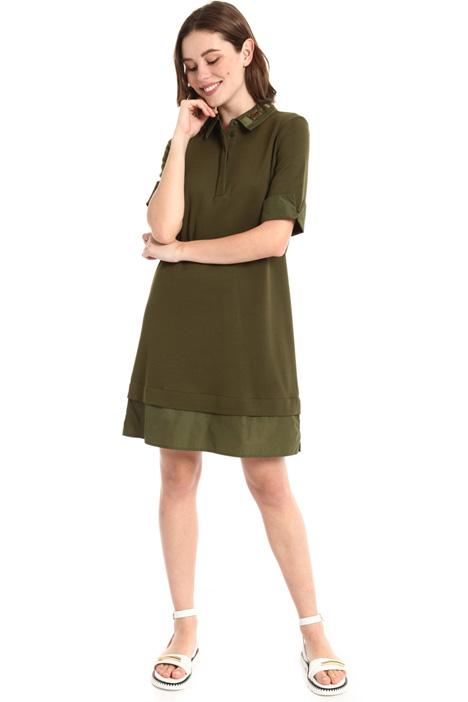 Piqué cotton chemisier dress Intrend