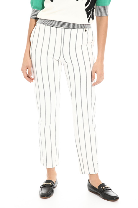 Straight leg cotton trousers Intrend