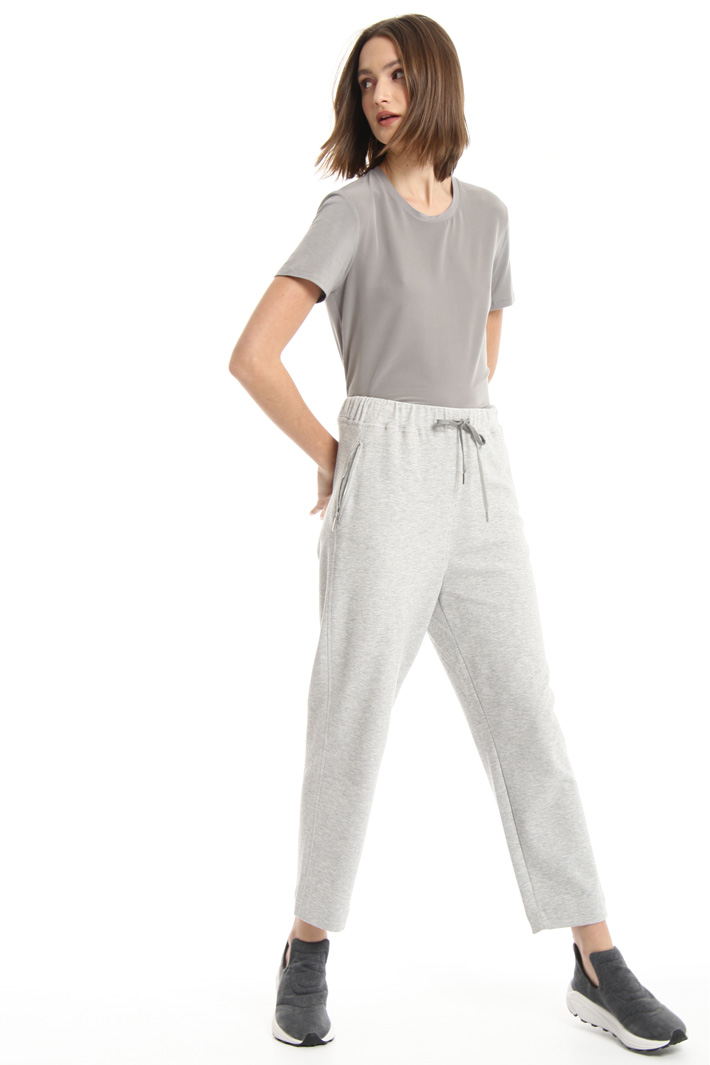 Straight leg jersey trousers Intrend