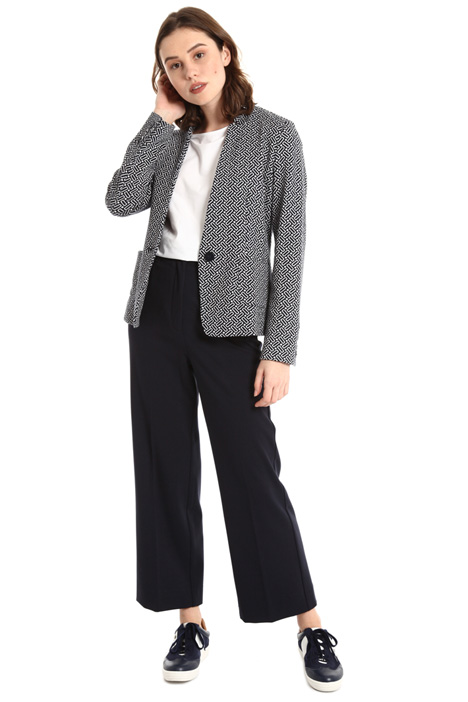 One button jacquard jacket Intrend