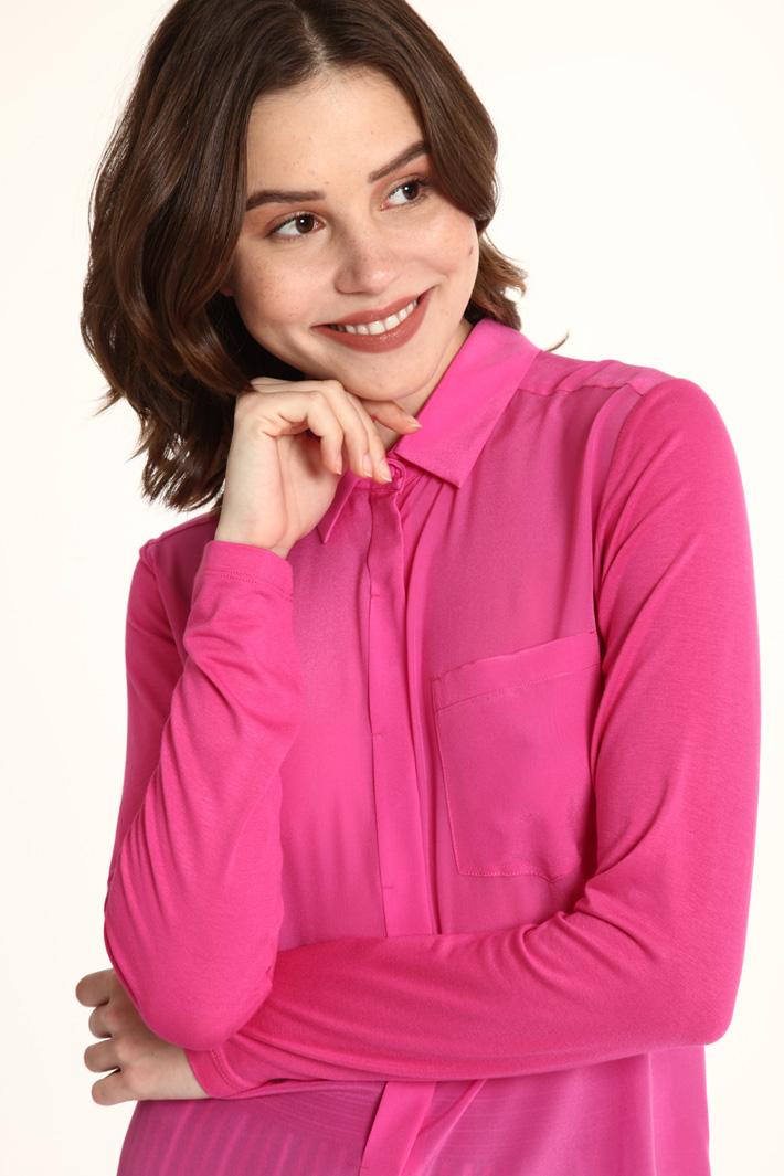 Viscose and silk shirt Intrend