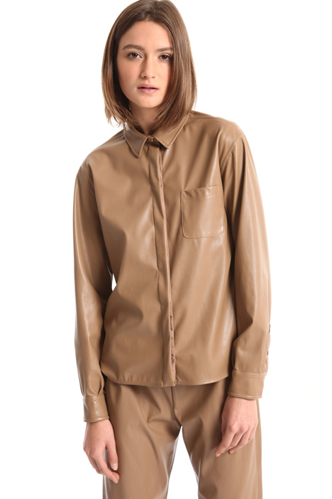 Faux leather shirt Intrend