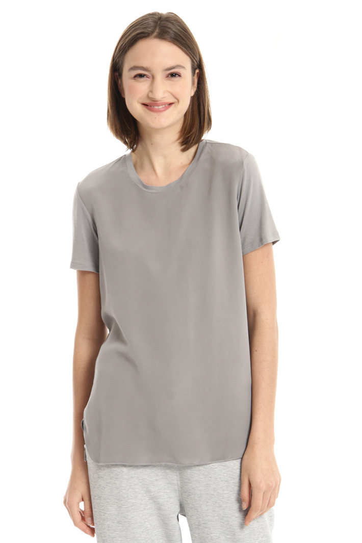 Jersey and silk T-shirt Intrend