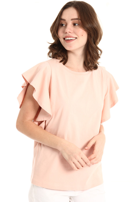 Flounced sleeve top Intrend