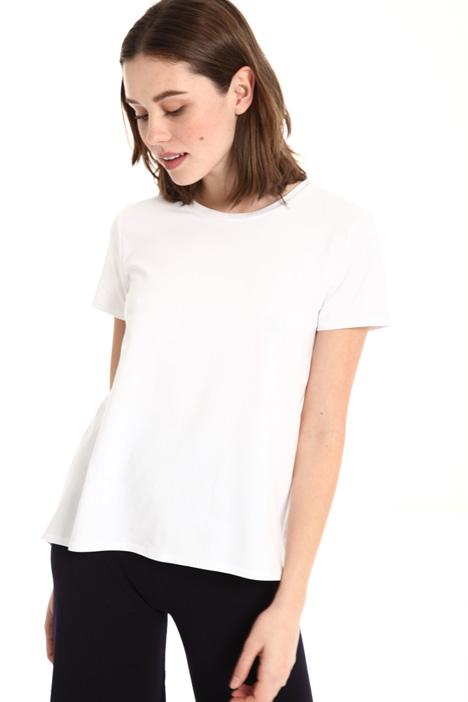 Bimaterial T-shirt Intrend
