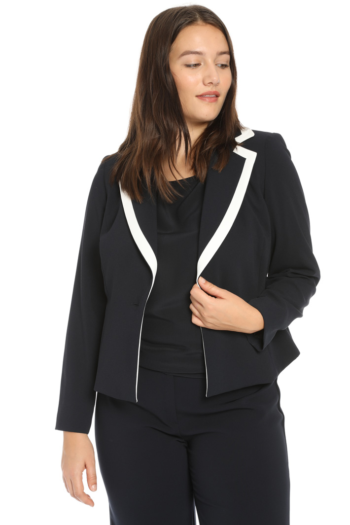 Envers satin blazer Intrend