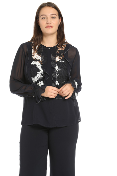 Georgette and lace shirt Intrend