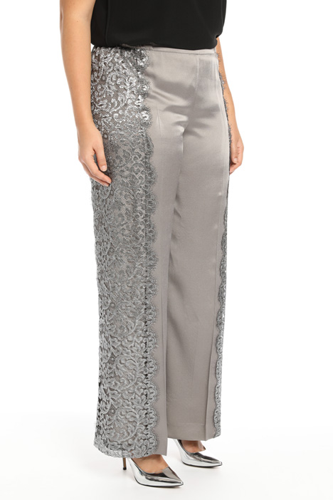 Embroidered palazzo trousers Intrend