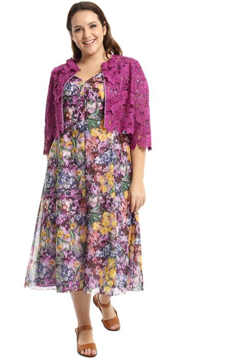 Floral macrame bolero jacket Intrend