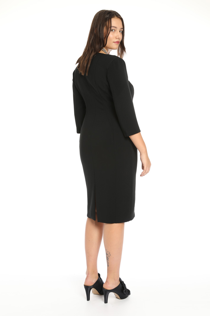 Triacetate sheath dress Intrend