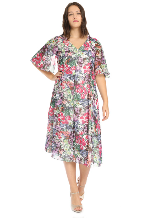 Printed chiffon dress Intrend
