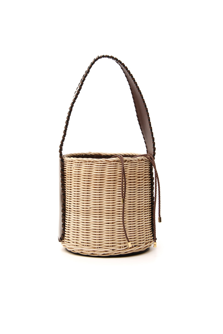 Leather and straw bag Intrend