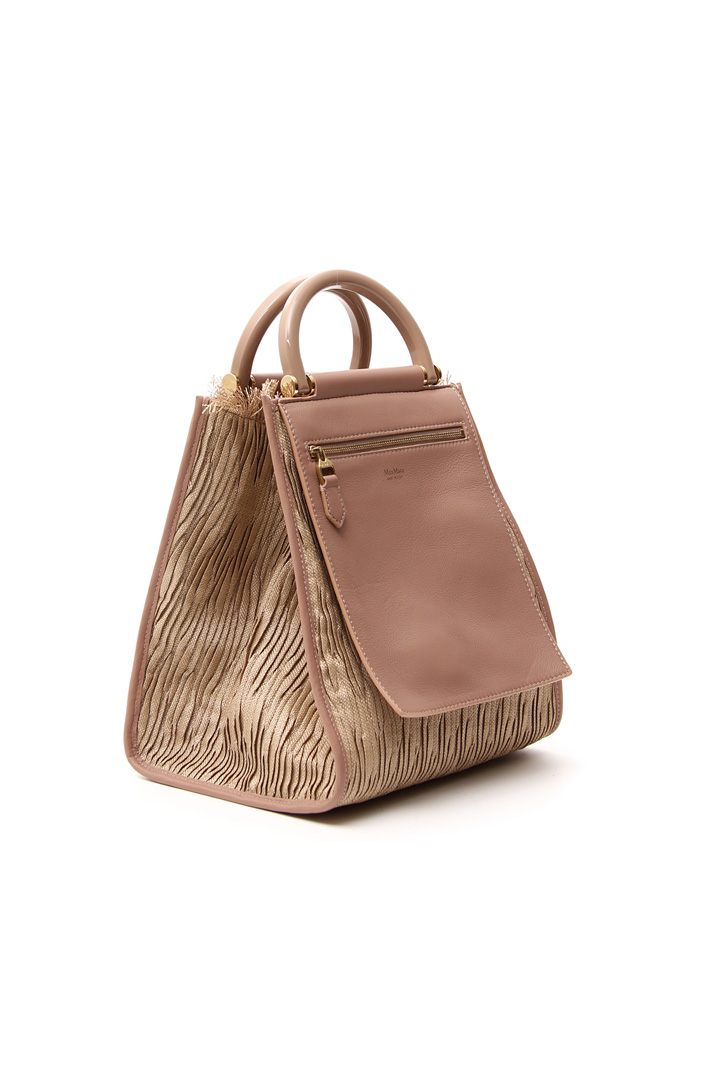 Leather and fabric bag Intrend