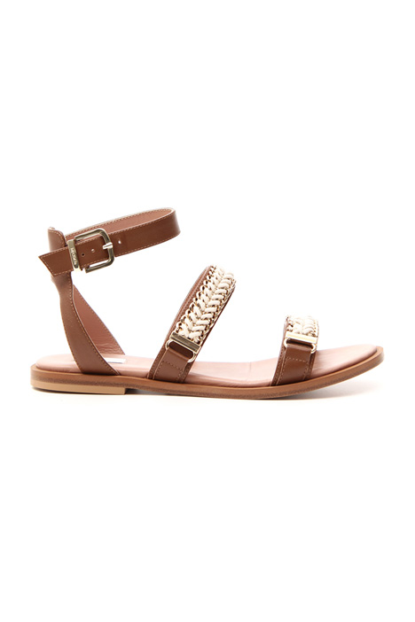Flat leather sandals Intrend