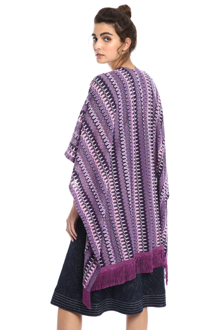 Jersey and cotton poncho Intrend