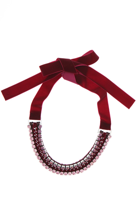 Necklace with velvet ribbon    Intrend