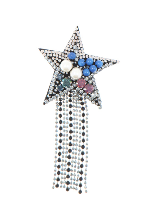 Star brooch with rhinestones    Intrend