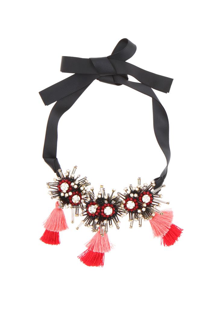 Crewneck necklace with rhinestones   Intrend
